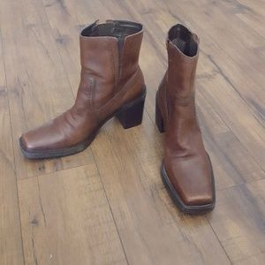 MIA - Burnish Brown Leather Calf Boots